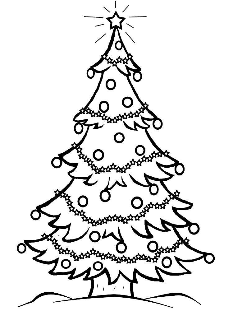 rbol de navidad para colorear - Dibujo Arbol De Navidad