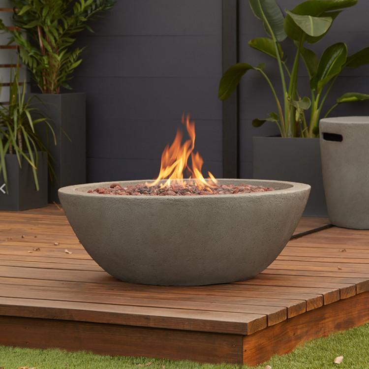 riverside bowl outdoor fireplace propane natural gas fire pit be rh pinterest com