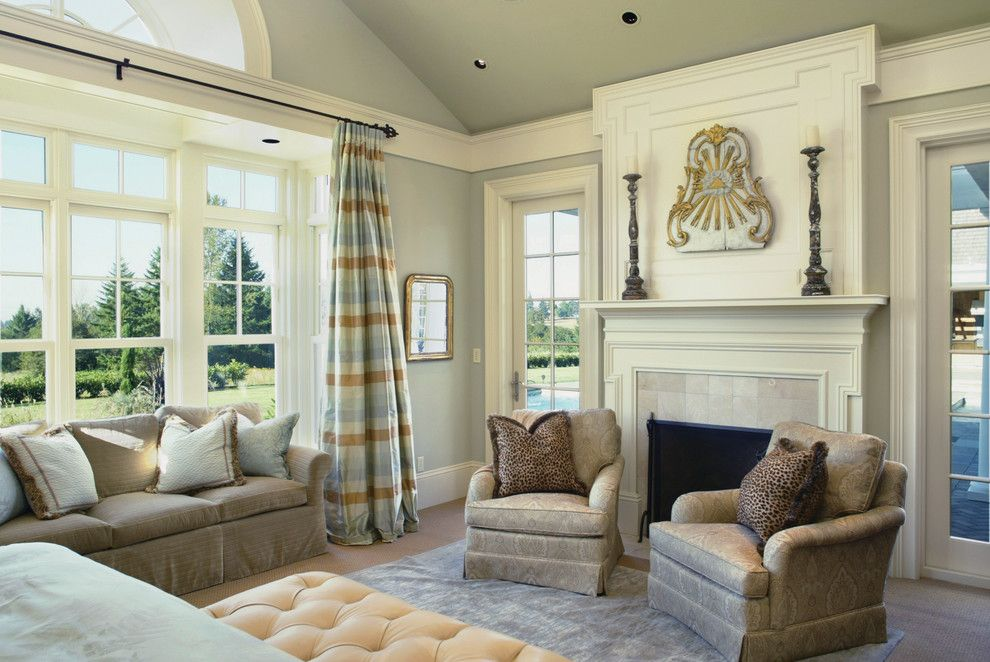 Crown Moulding Ideas Bedroom Traditional With Animal Print Arm Chairs Baseboard Bed Carpeting
