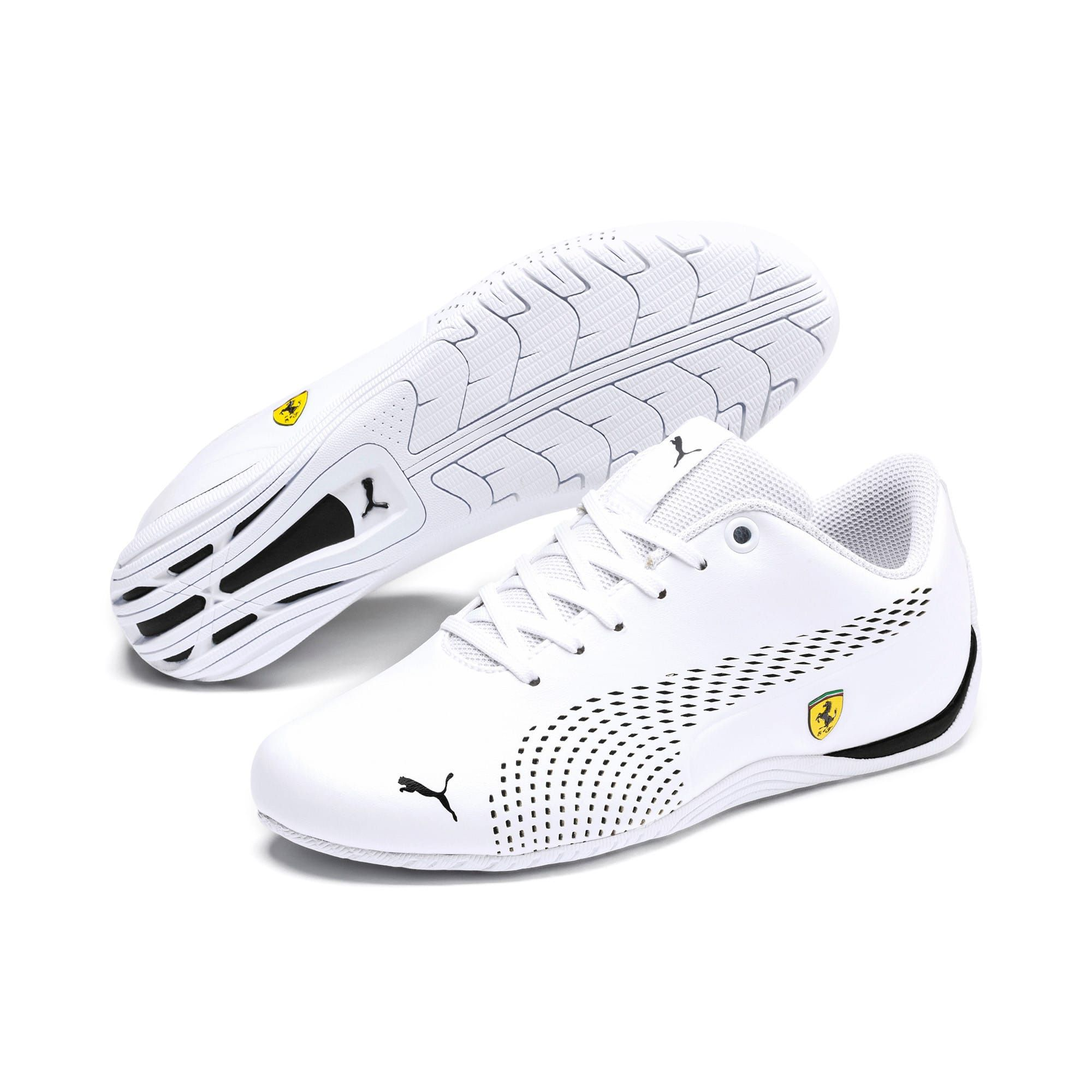 PUMA Ferrari Drift Cat 5 Ultra II Youth Trainers in White/Black size 4.5 #newferrari
