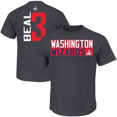 promo code a2f09 9940a Mens Washington Wizards Bradley Beal Majestic Gray Vertical ...