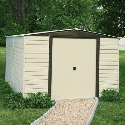 Arrow Dallas 10 Ft W X 8 Ft D Vinyl Coated Steel Storage Shed Metal Storage Sheds Diy Shed Plans Building A Shed