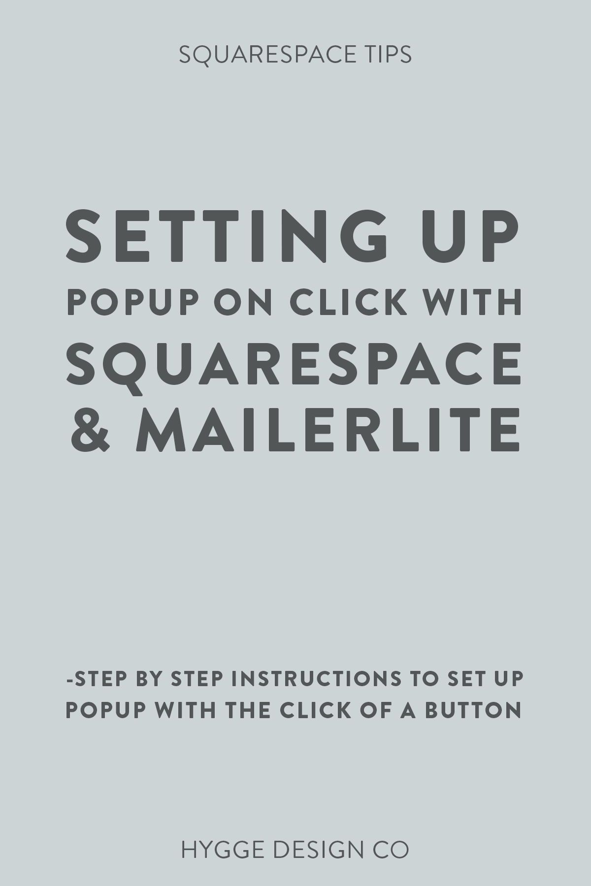 Setting up Popup on Click with MailerLite and Squarespace