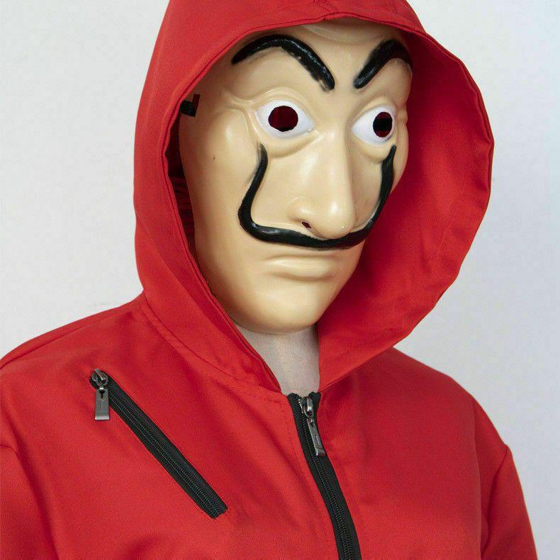 Karneval Kost M Salvador Dali Maske La Casa De Papel Haus Des Geldes Cosplay De Maske La Casa Red Suit Salvador Dali The Mask Costume