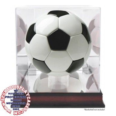 Our Mahogany finish soccer ball case is a showboat for your sports ...