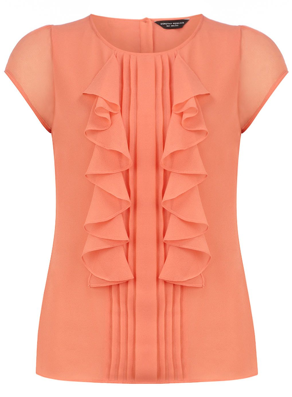 78c2417ff9e8fe Coral short sleeve frill top - Going Out Tops - Tops - Clothing - Dorothy  Perkins United States