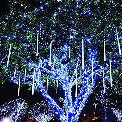 Amazon Com Twinkle Star Meteor Shower Rain Lights 30cm 8 Tubes 288 Led Icicle Snow Falli Outdoor Christmas Lights Christmas Lights Fun Christmas Decorations