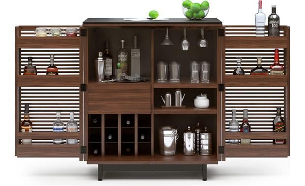 BDI Corridor Bar 5620 Walnut (bottles and accessories not included)