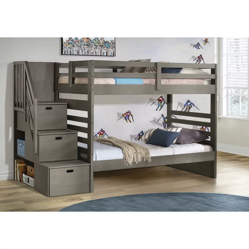 Mccarter Twin Over Twin Solid Wood Standard Bunk Bed In 2021 Twin Bunk Beds Twin Over Full Bunk Bed Bunk Beds With Drawers Twin over twin bunk beds with storage