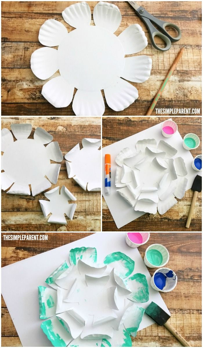 Make your own Paper Plate Craft for spring or Mother\u0027s ... & Make your own Paper Plate Craft for spring or Mother\u0027s Day! | Papír ...