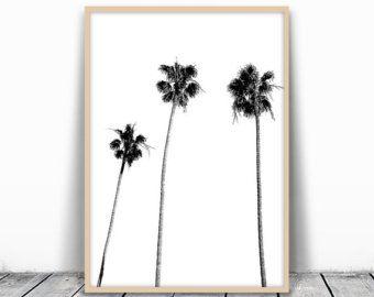 Charmant Palm Tree Wall Art | Etsy