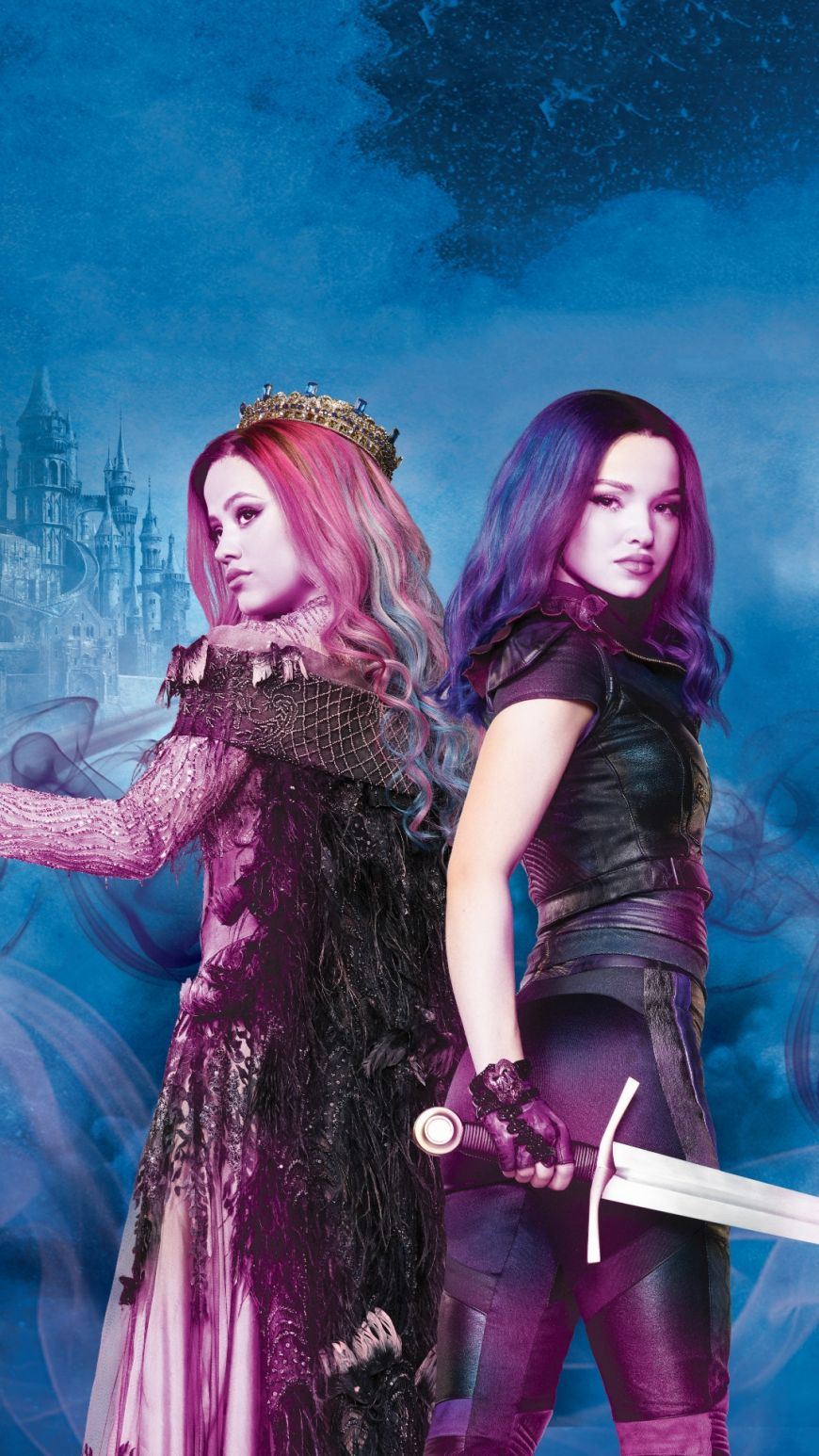 Disney Descendants 3 Mal With A Sword And Audrey Mobile Wallpaper In 2020 Disney Descendants Dolls Disney Descendants 3 Disney Descendants Movie