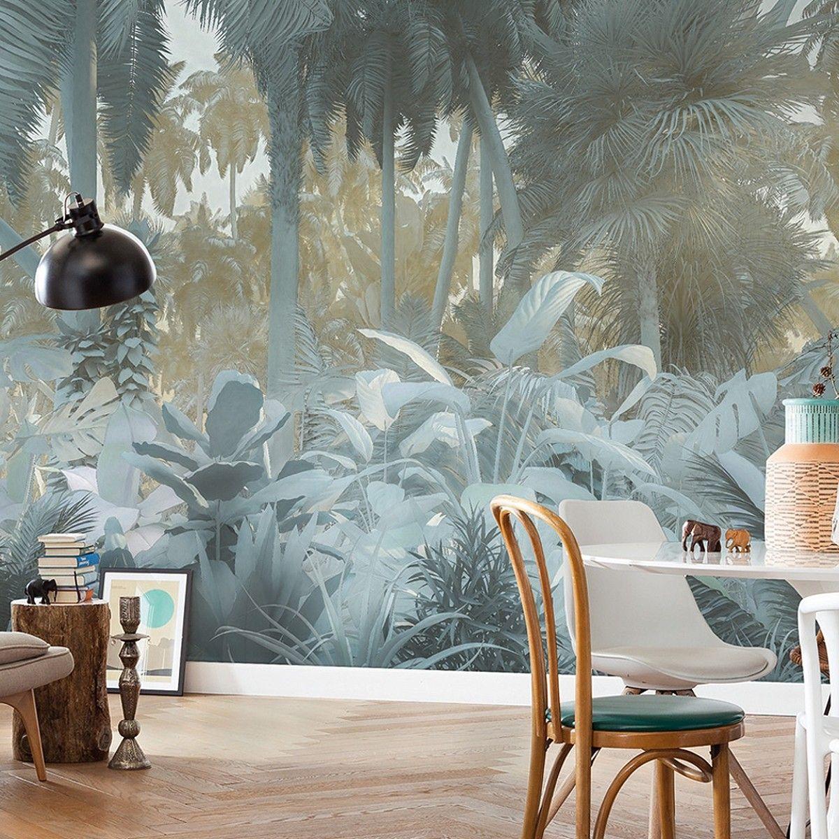 Misty Jungle In 2020 Fototapete Tapeten Und Wandgestaltung