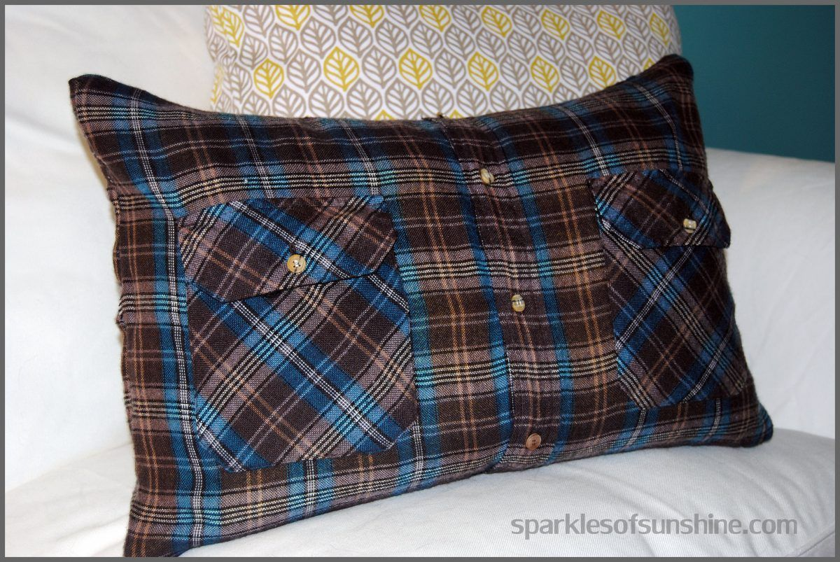 How to make a flannel shirt pillow in easy steps flannel shirts