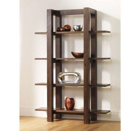 bentley designs lyon walnut open shelf unit home and garden design