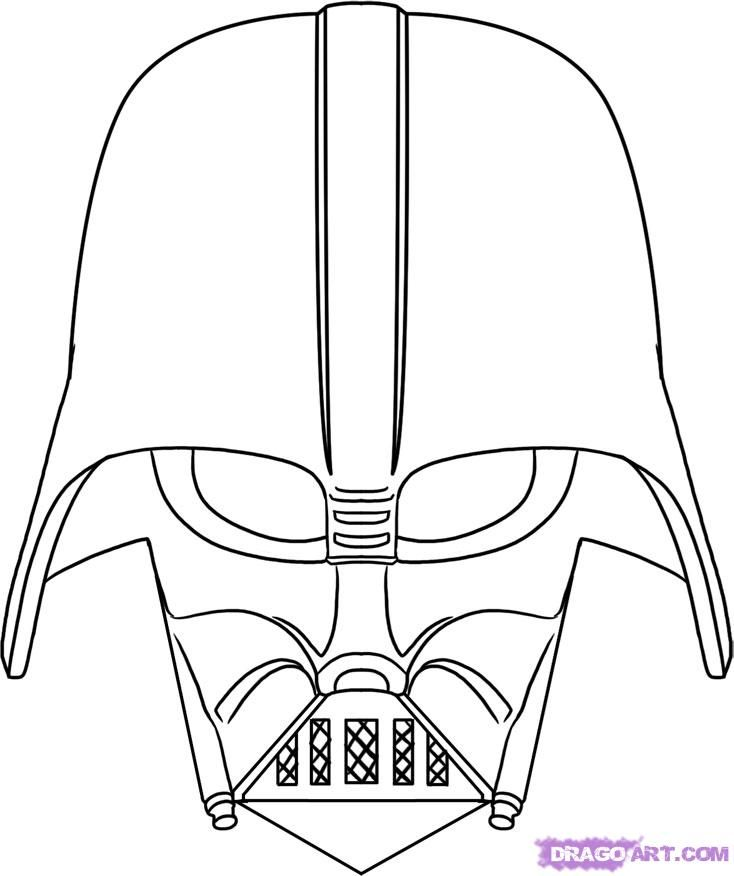 Be A True Fan And Get Paid To Blog About Star Wars Httpswww - darth vader head coloring pages