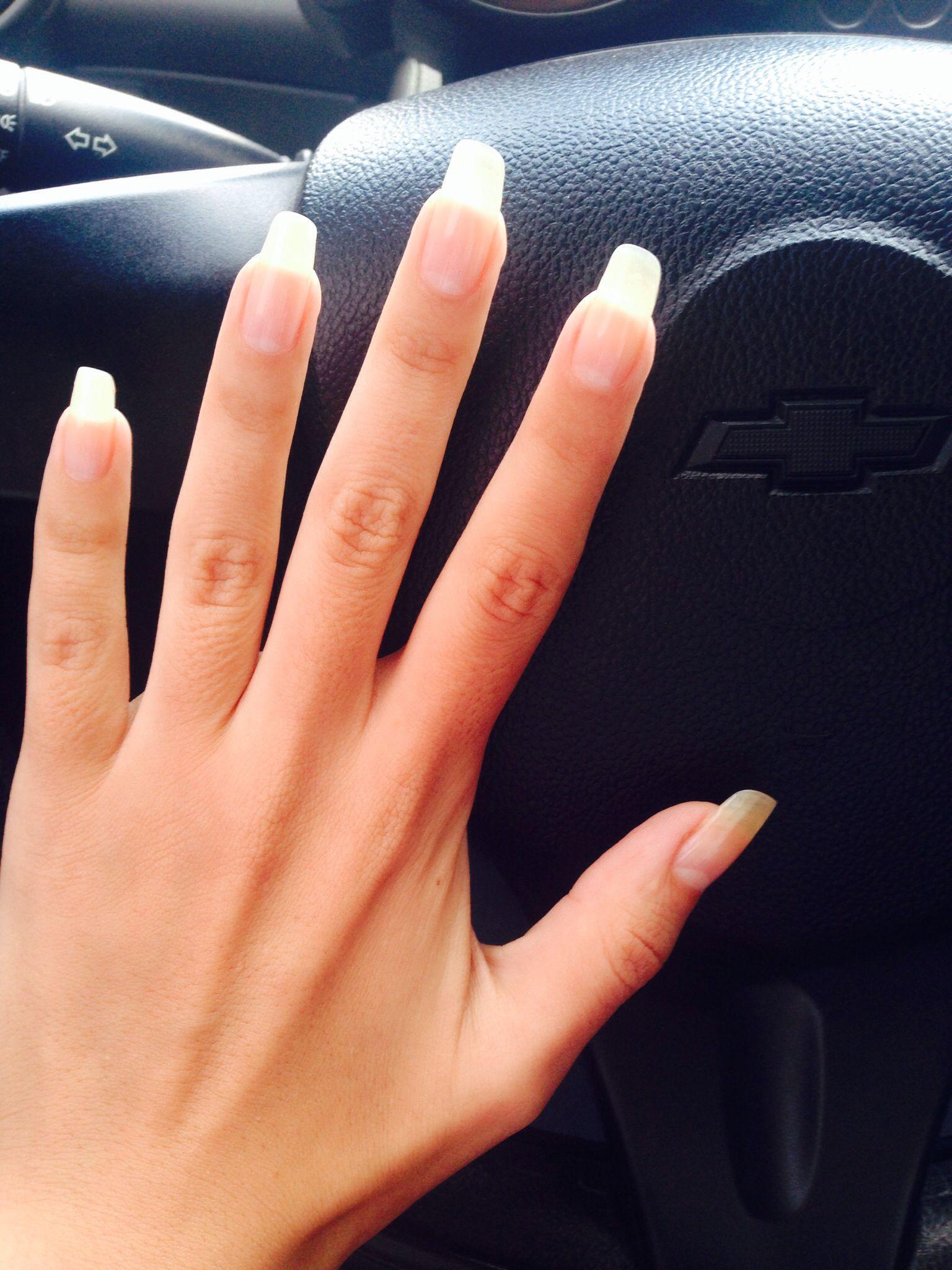 natural long nails nails pinterest nature ongles et ongles longs. Black Bedroom Furniture Sets. Home Design Ideas
