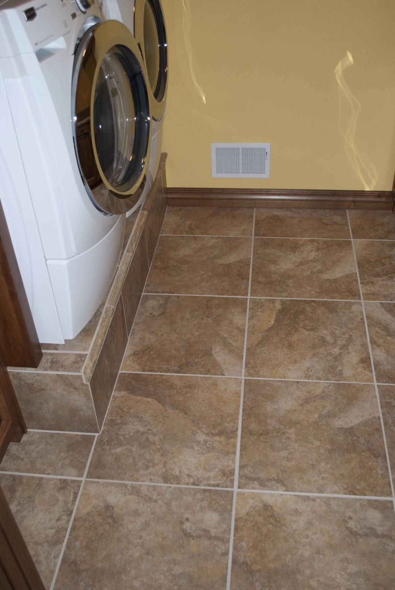 Image detail for Tile Laundry Room Tile Another idea to raise the