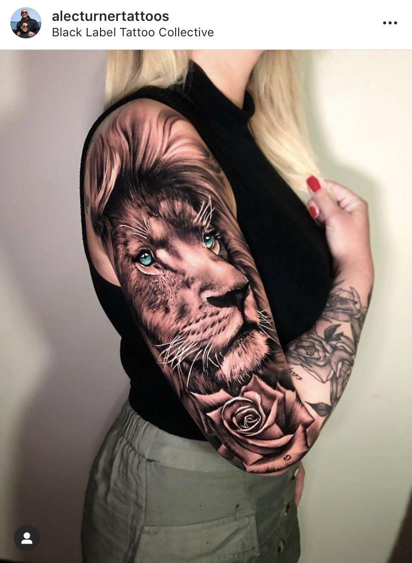 Lion Sleeve Tattoo : sleeve, tattoo, Tattoo, Tattoos,, Sleeves,