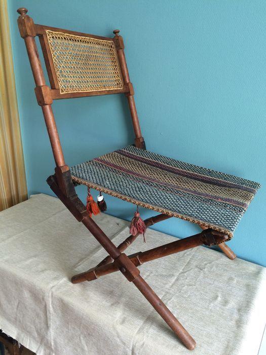 Online veilinghuis Catawiki: Campaing chair - ca. 1890
