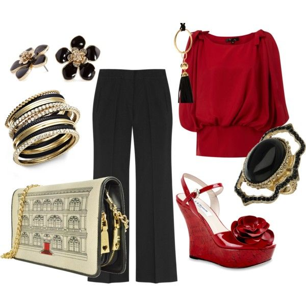 Date Night!, created by #kelley-williams-whitmire on #polyvore. #fashion #style #Moschino Robert Rose