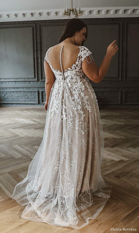 Olivia Bottega 2021 Plus Size Wedding Dresses Wedding Inspirasi Plus Wedding Dresses Flattering Wedding Dress Wedding Dress Cap Sleeves [ 1500 x 900 Pixel ]