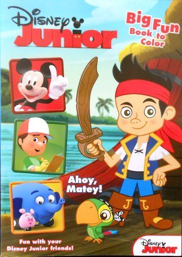 "Disney Junior Jake and the Neverland Pirates Coloring Book ""Ahoy, Matey!"" with Mickey and Friends by Dalmatian Press, LLC. $6.92. Hours of fun. Great gift for your favorite Minnie Mouse enthusiast. Games, puzzles, mazes, writing activities and coloring fun with your favorite Disney® characters. Disney Junior Jake and the Neverland Pirates Coloring Book with Disney Junior Friends.  Coloring Book titled: "" Ahoy, Matey!""  Coloring pages and activities feature characters from Ja..."