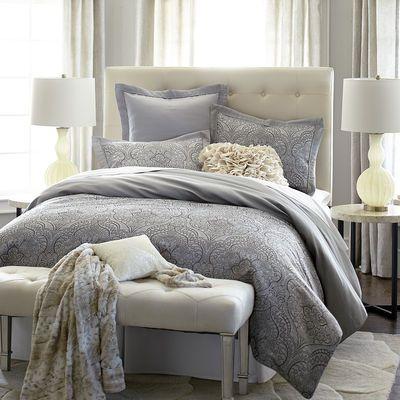 Pavone Jacquard Bedding & Duvet | Textured Bedroom | Pinterest