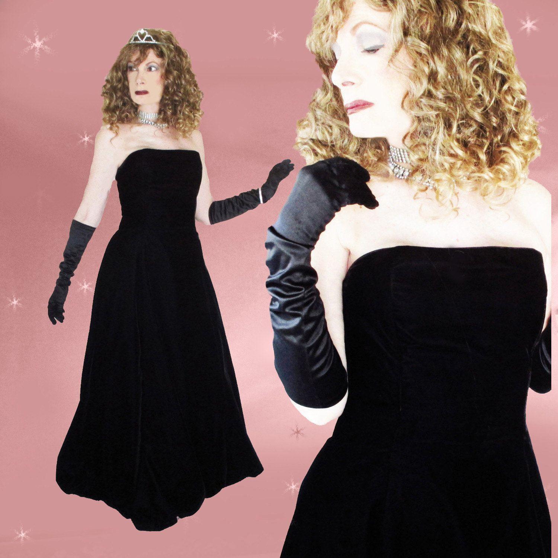 Strapless Ballgown for Women, Black Ball Gown, Minimalist Evening ...