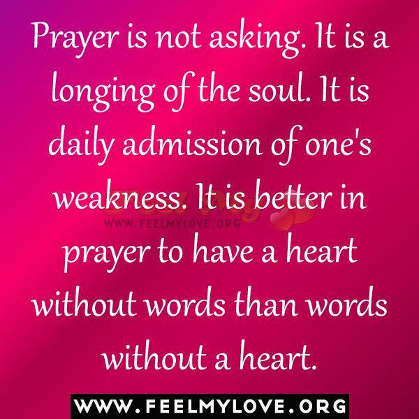 Prayer, defined by Gandhi