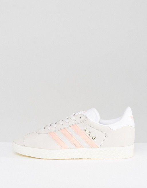 Adidas Originals Gazelle zapatillas gris y rosa pastel Pinterest