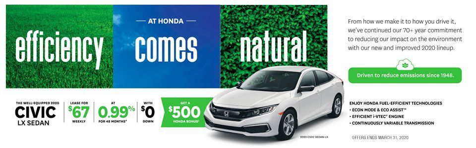 Don't miss this chance to get the latest Honda in 2020