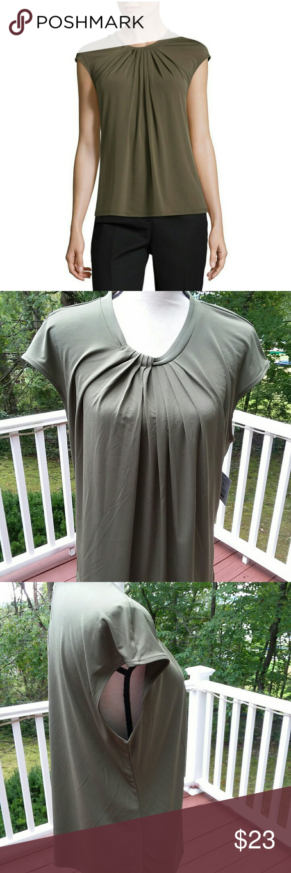 385110a9a Liz Claiborne Sleeveless Pleated Neck Knit Blouse « Alzheimer's ...