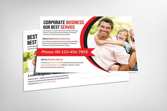 Corporate business postcard template by business templates on corporate business postcard template by business templates on creative market fbccfo Gallery