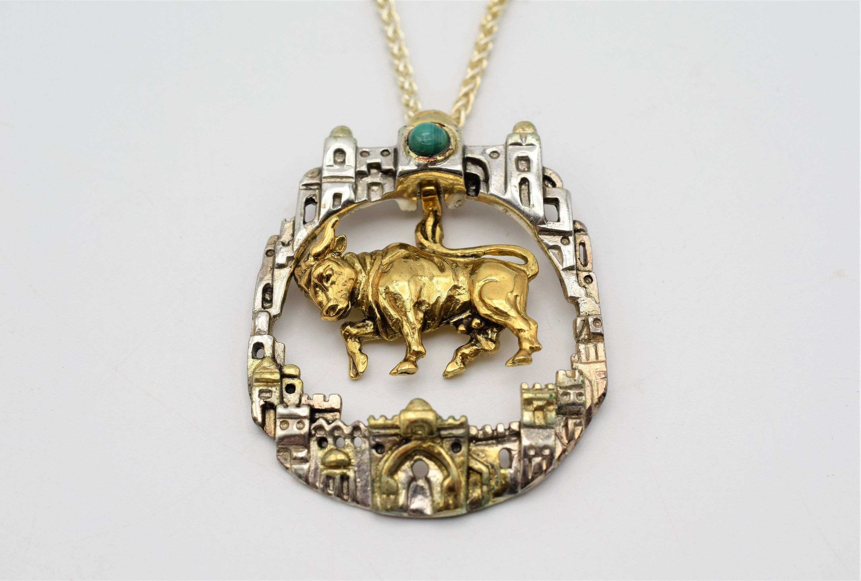 Vintage Silver  Taurus Brooch Pin