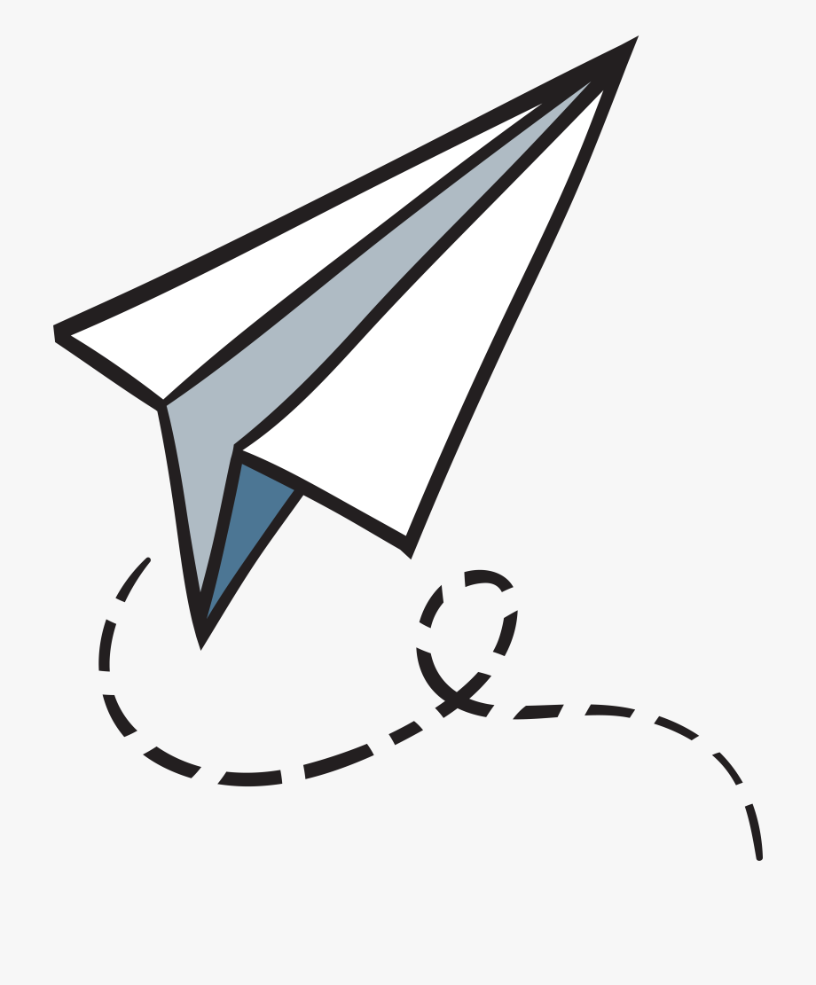 Download Clipart Paper Airplane Png Png Gif Base Paper Airplanes Paper Airplane Drawing Clip Art