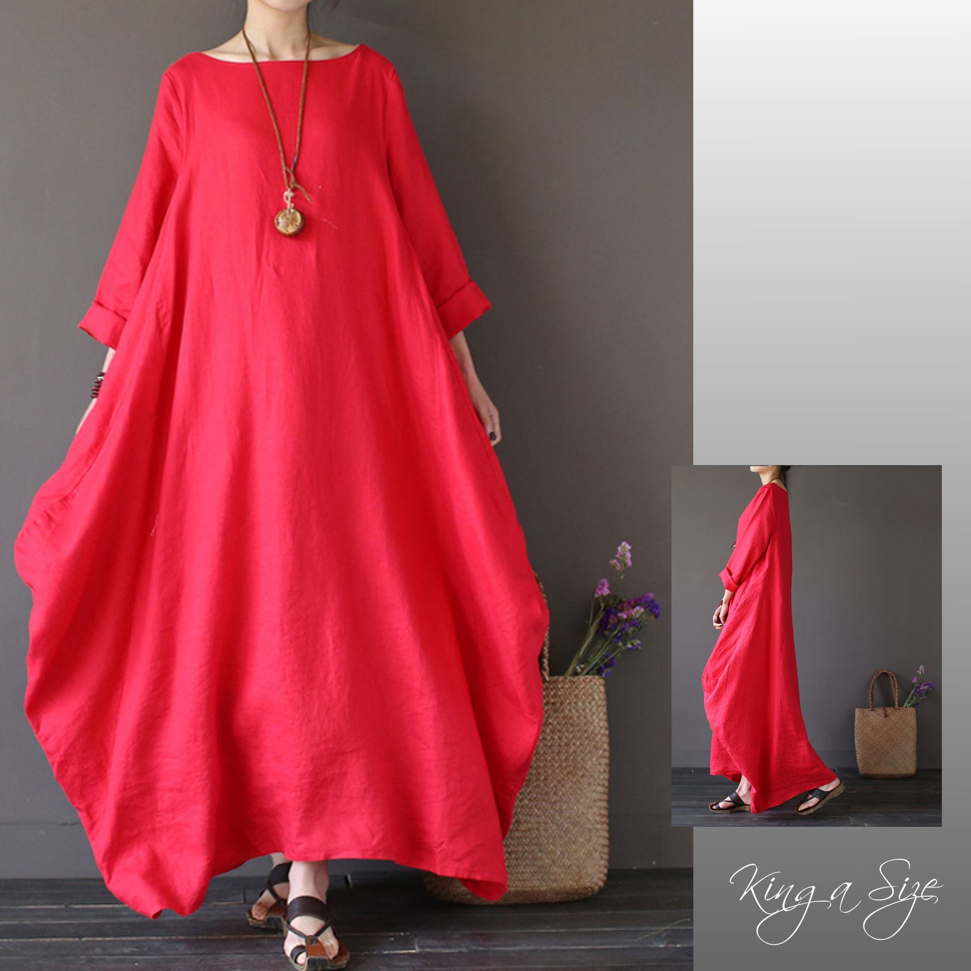lagenlook kleid rot red | clothes for women, fashion