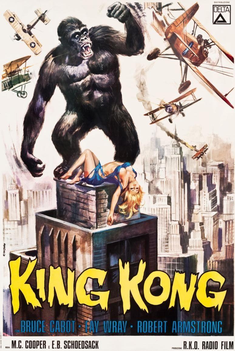1960s King Kong Posters King Kong Movie King Kong King Kong 1933