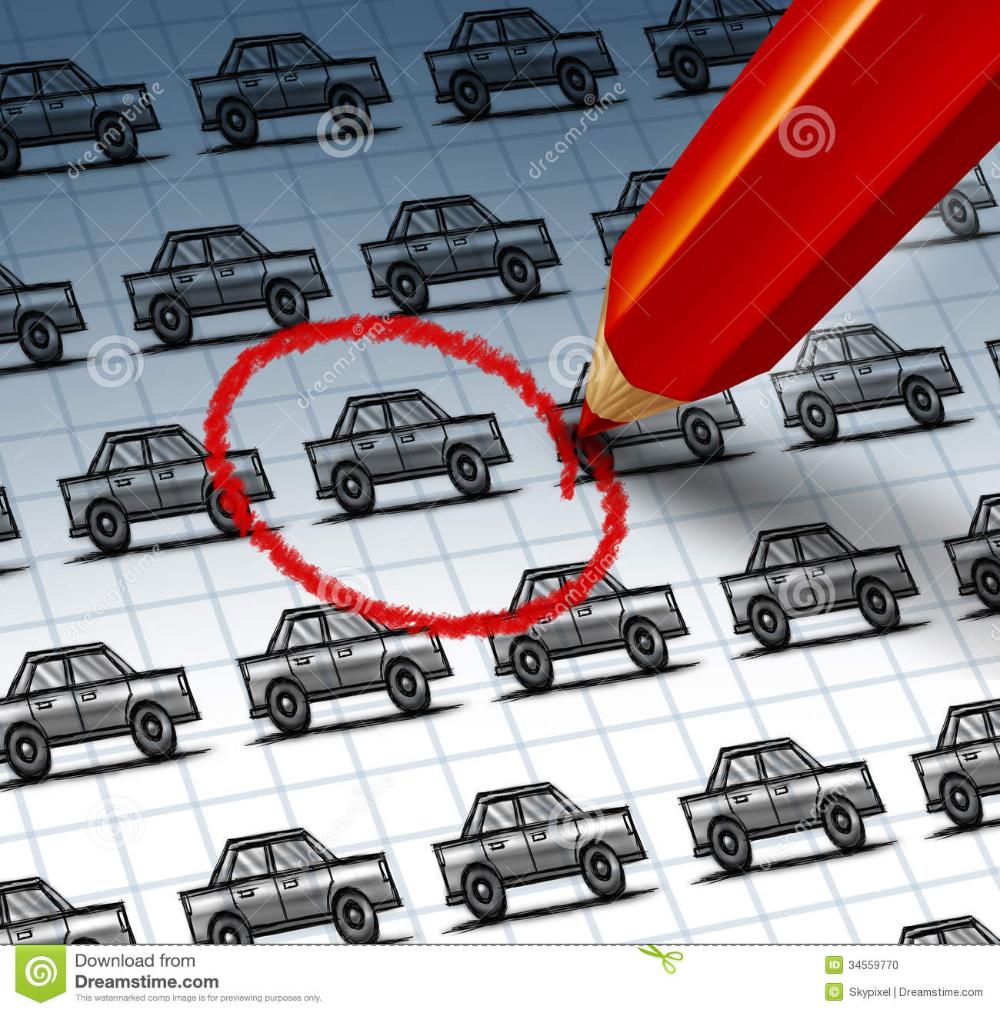 Auto Listings Lovely Car Shopping Stock Illustration Image