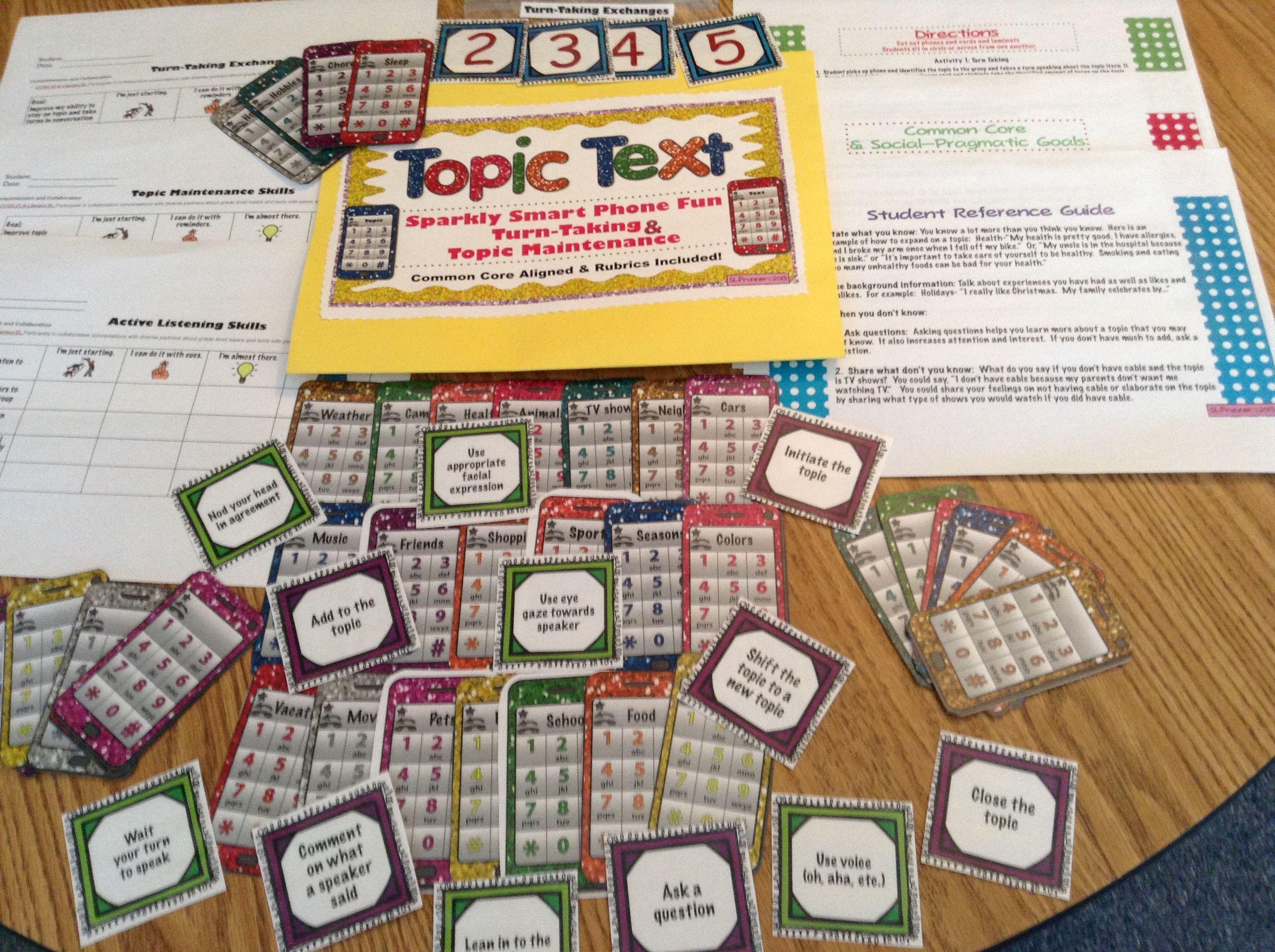 Pragmatic Social Language Skills Topic Text 4 Activities