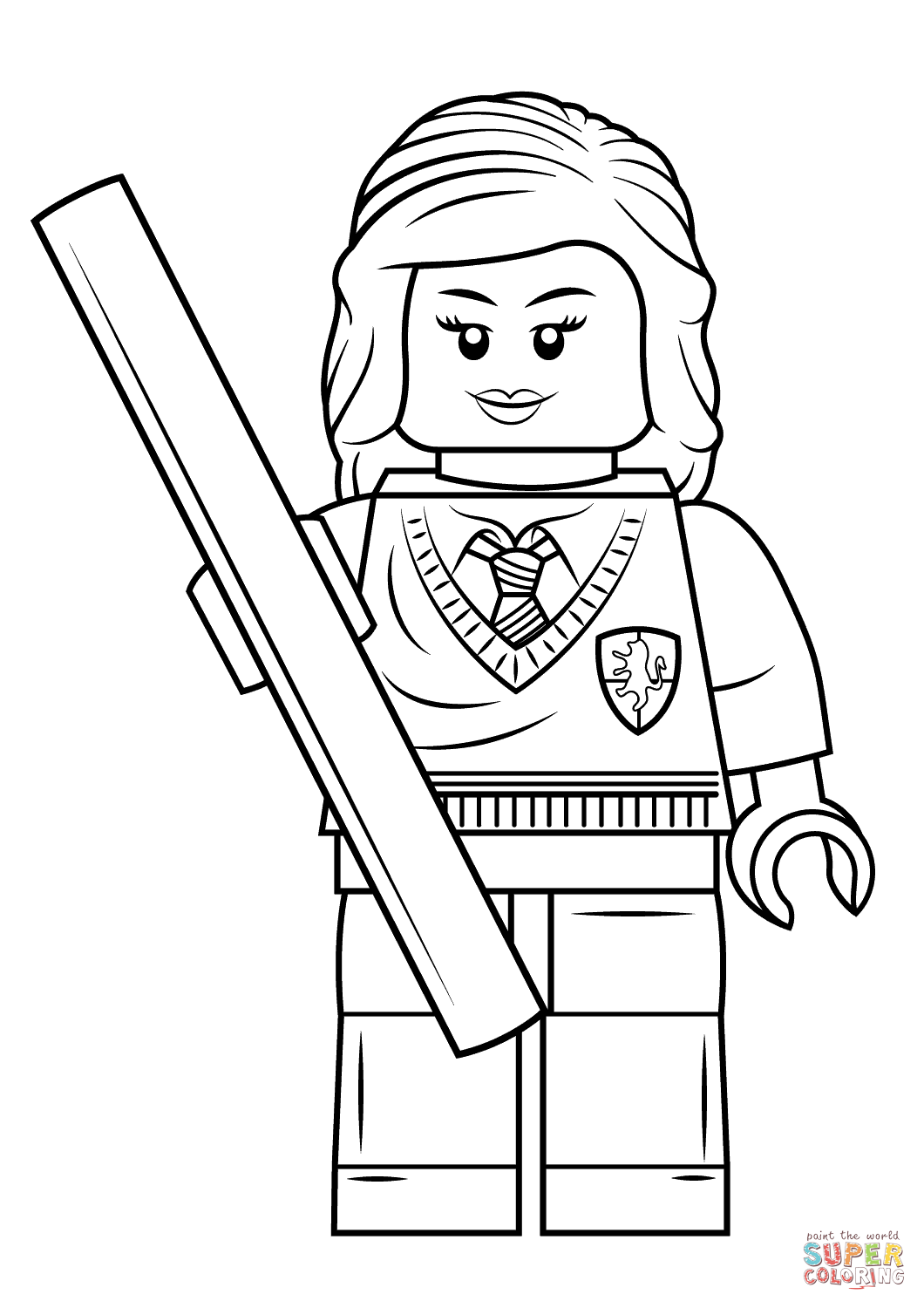 Lego Hermione Granger coloring page | Free Printable ...