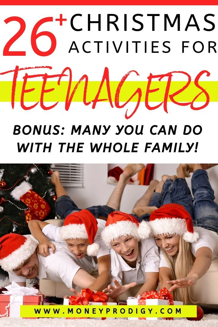 26 Christmas Activities for Teenagers (They'll Actually