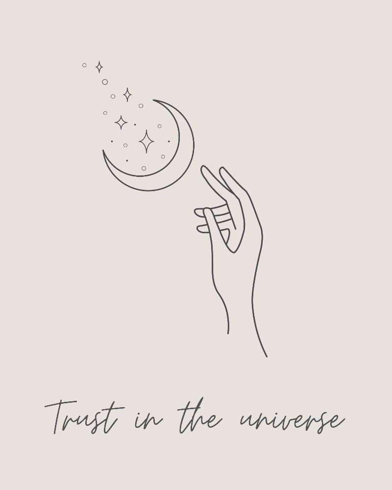 Trust in the universe quote | wall art | positivity