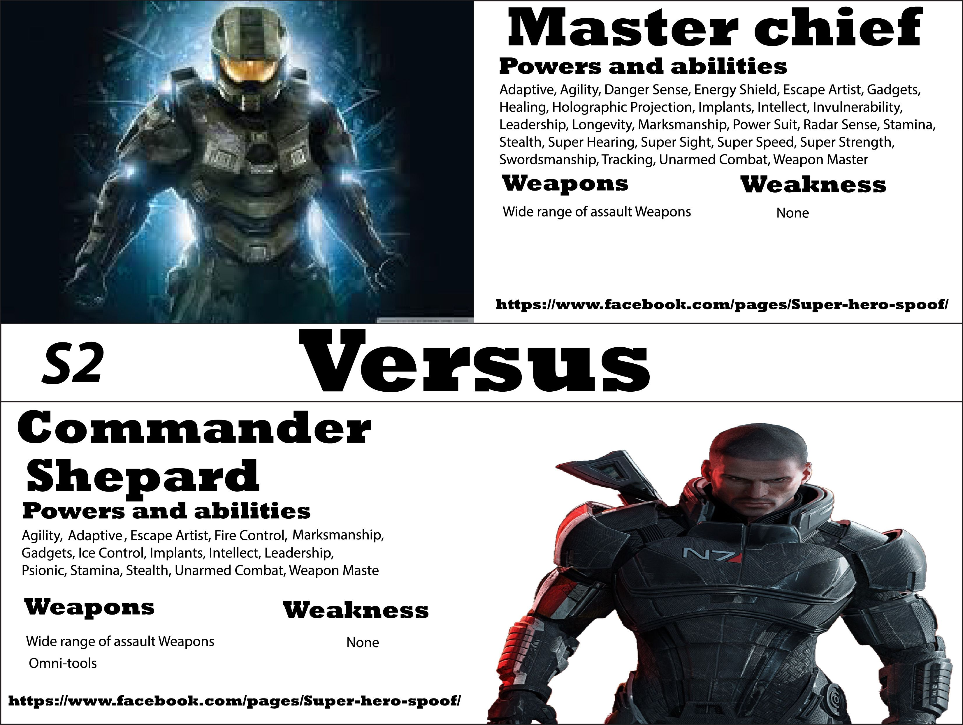 master chief vs commander shepard who will win and why powers master chief vs commander shepard who will win and why powers abilities weaknesses and weapons are posted by super hero spoof