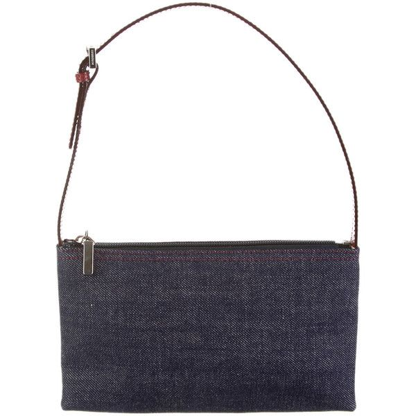 Pre Owned Burberry Denim Shoulder Bag 473 445 Cop Liked On Polyvore Featuring