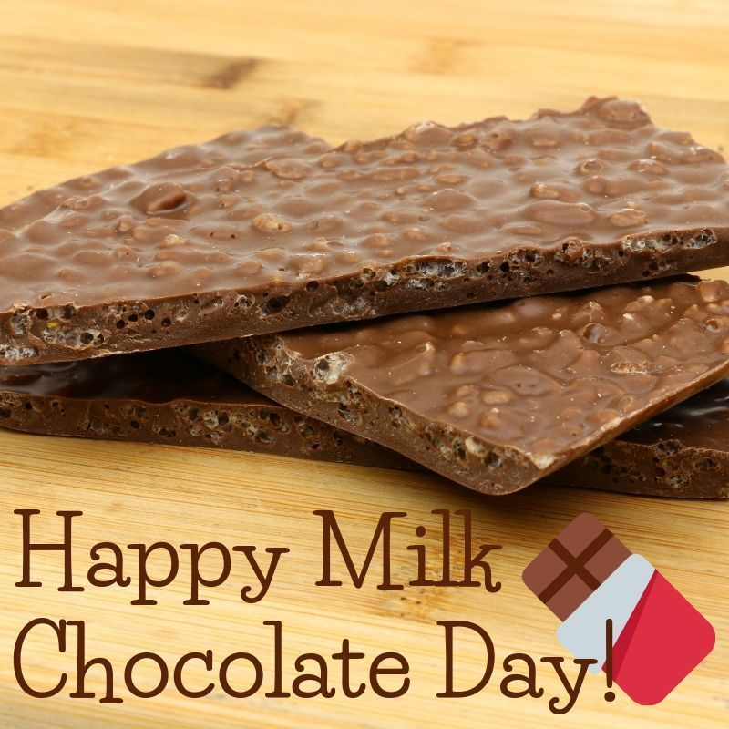 It S Officially National Milk Chocolate Day While We Celebrate This Every Day Our Milk Chocolate Crispy Bark Is Chocolate Day Chocolate Milk Chocolate Treats