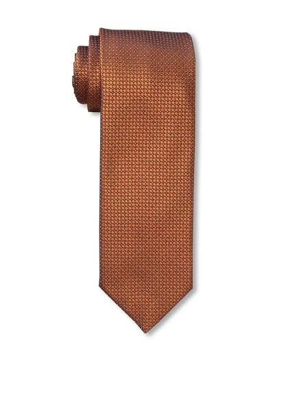 Massimo Bizzocchi Men's Micro Dot Tie, Orange at MYHABIT