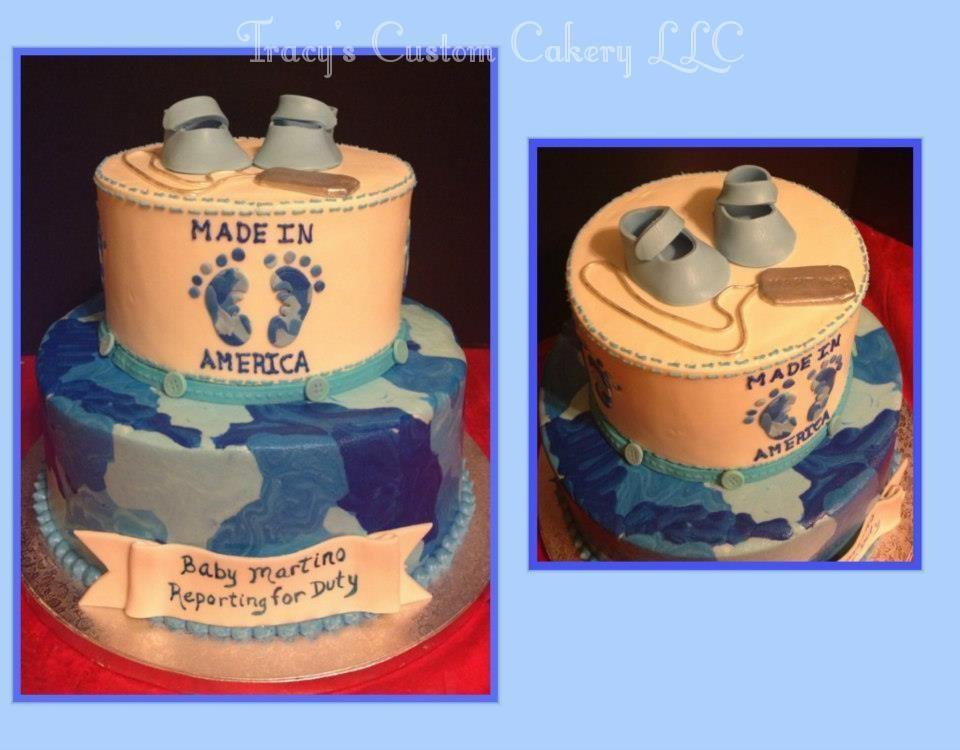 Blue Camo Baby Shower Cake Baby Shower Cakes Pinterest Camo