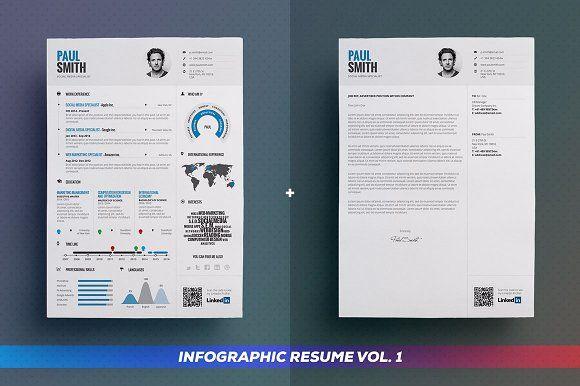 Infographic Resume Bundle - Resumes Cv sjabloon Pinterest