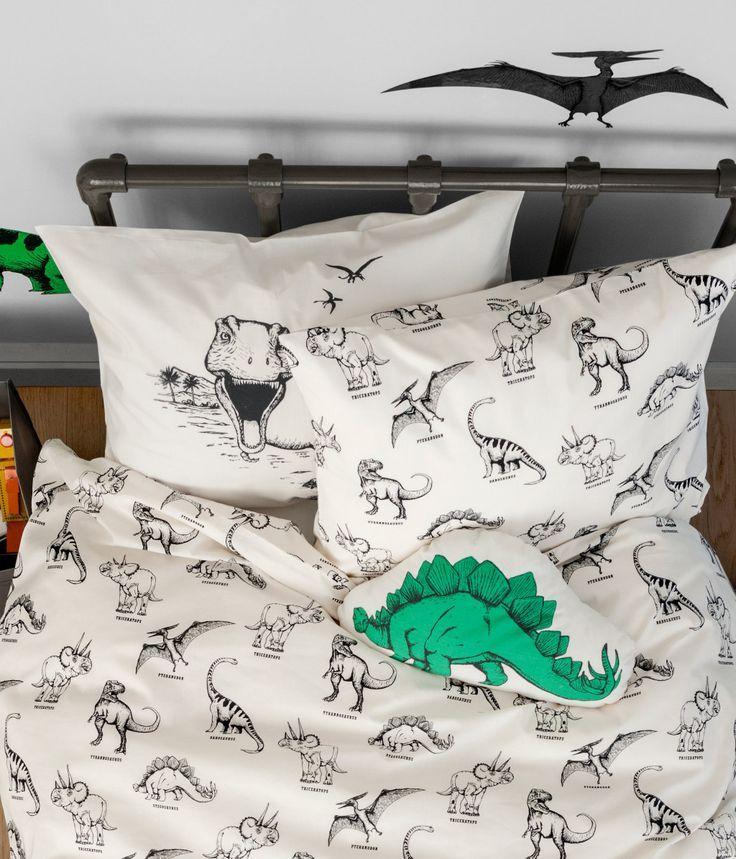 Duvet Cover Set | Product Detail | H&M | Boys dinosaur ...
